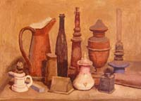 Work of Giorgio Morandi - Natura Silente (Copia D'Autore) ink jet canvas
